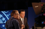 Larry King and Mitt Romney at CNN presidential debate