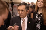 Dennis and Elizabeth Kucinich at presidential debate